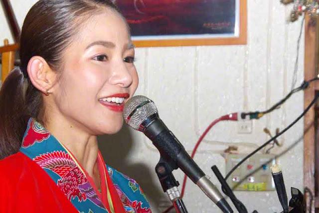 Sari, singer, stage, distractions