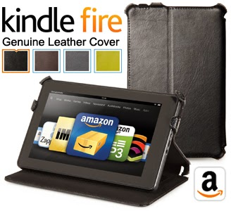 Kindle Fire Genuine Leather Cover Case