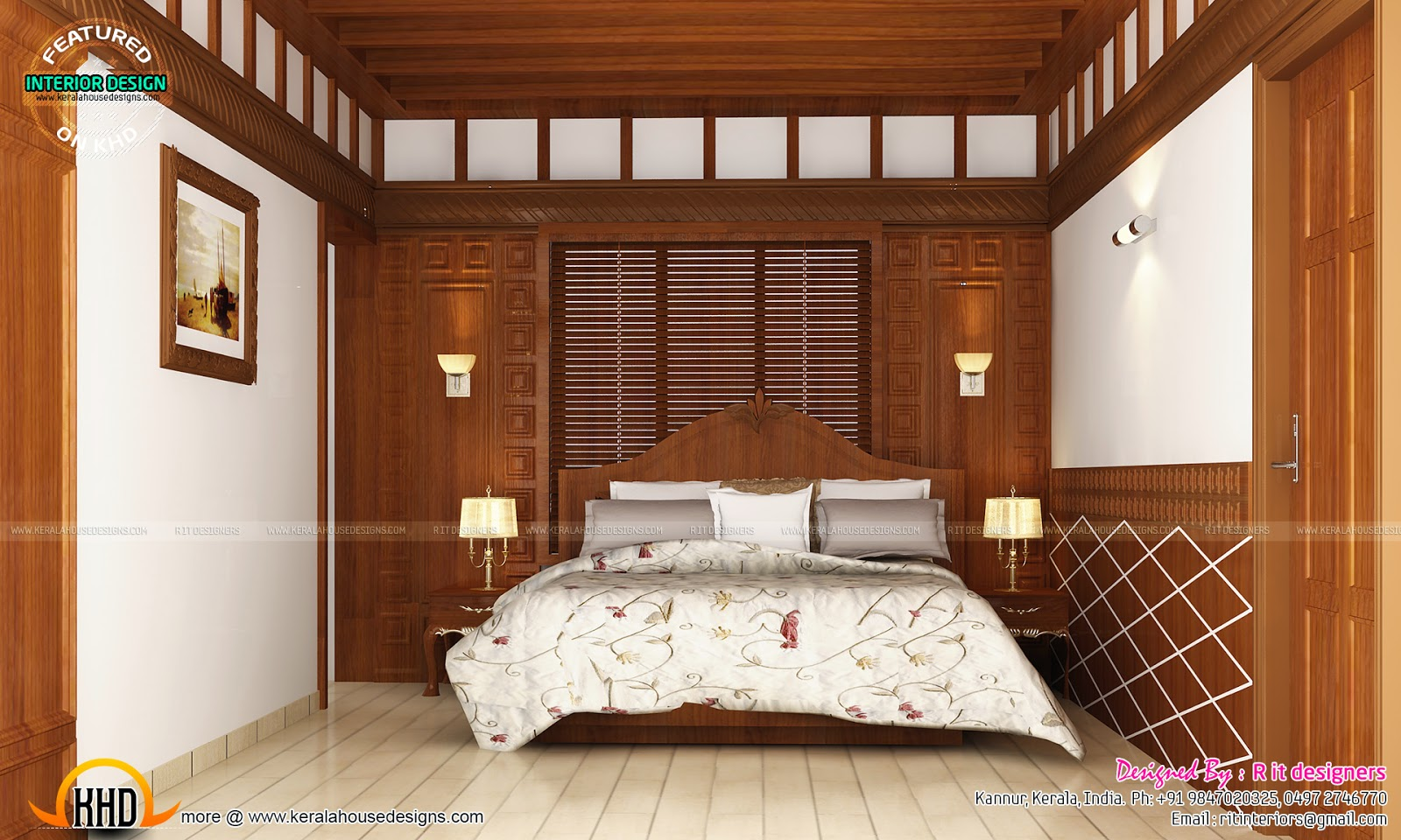 Master bedroom designs kerala home design and floor plans for Master bedroom interior