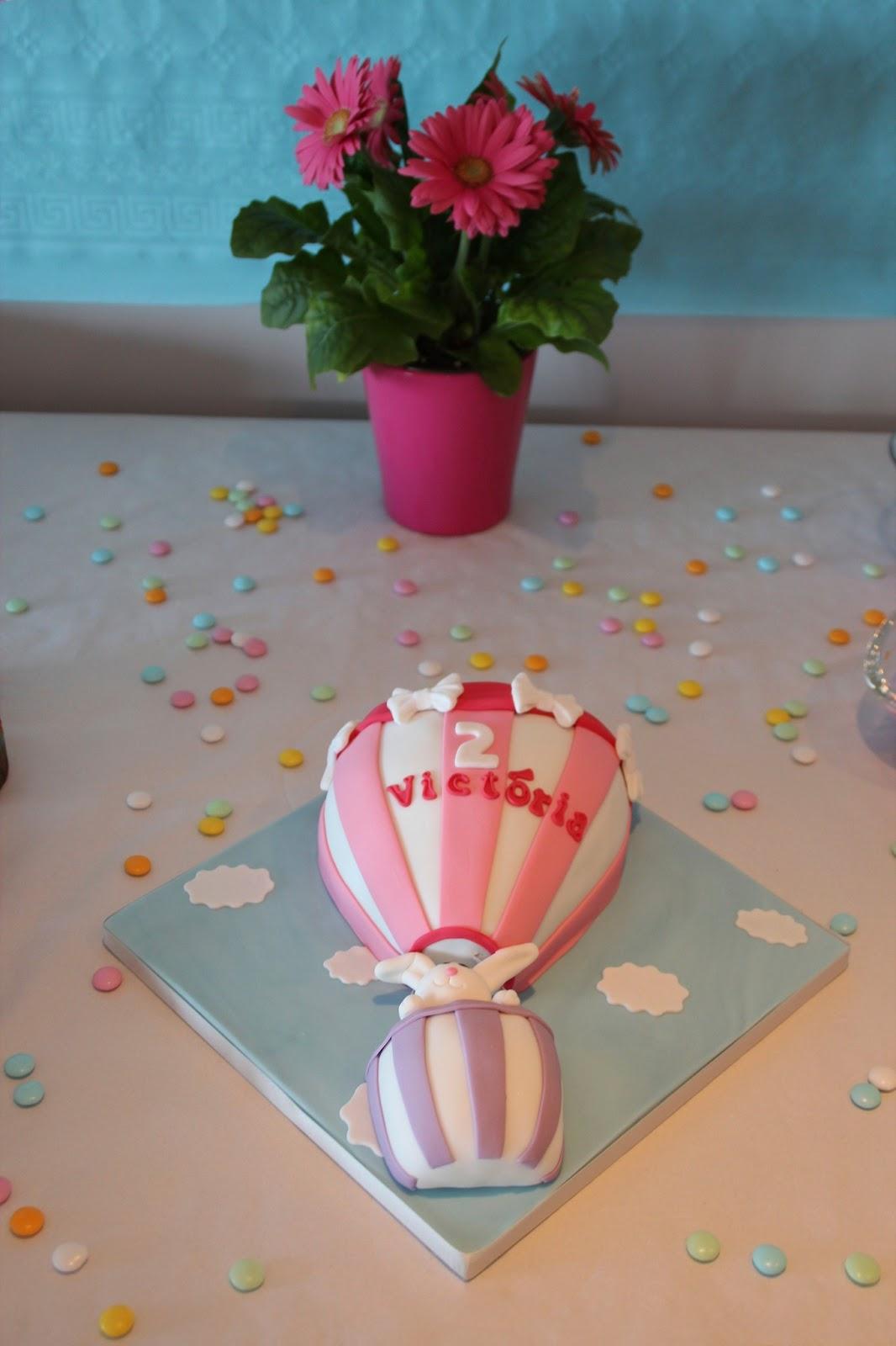 gâteau victoria rose forme montgolfière