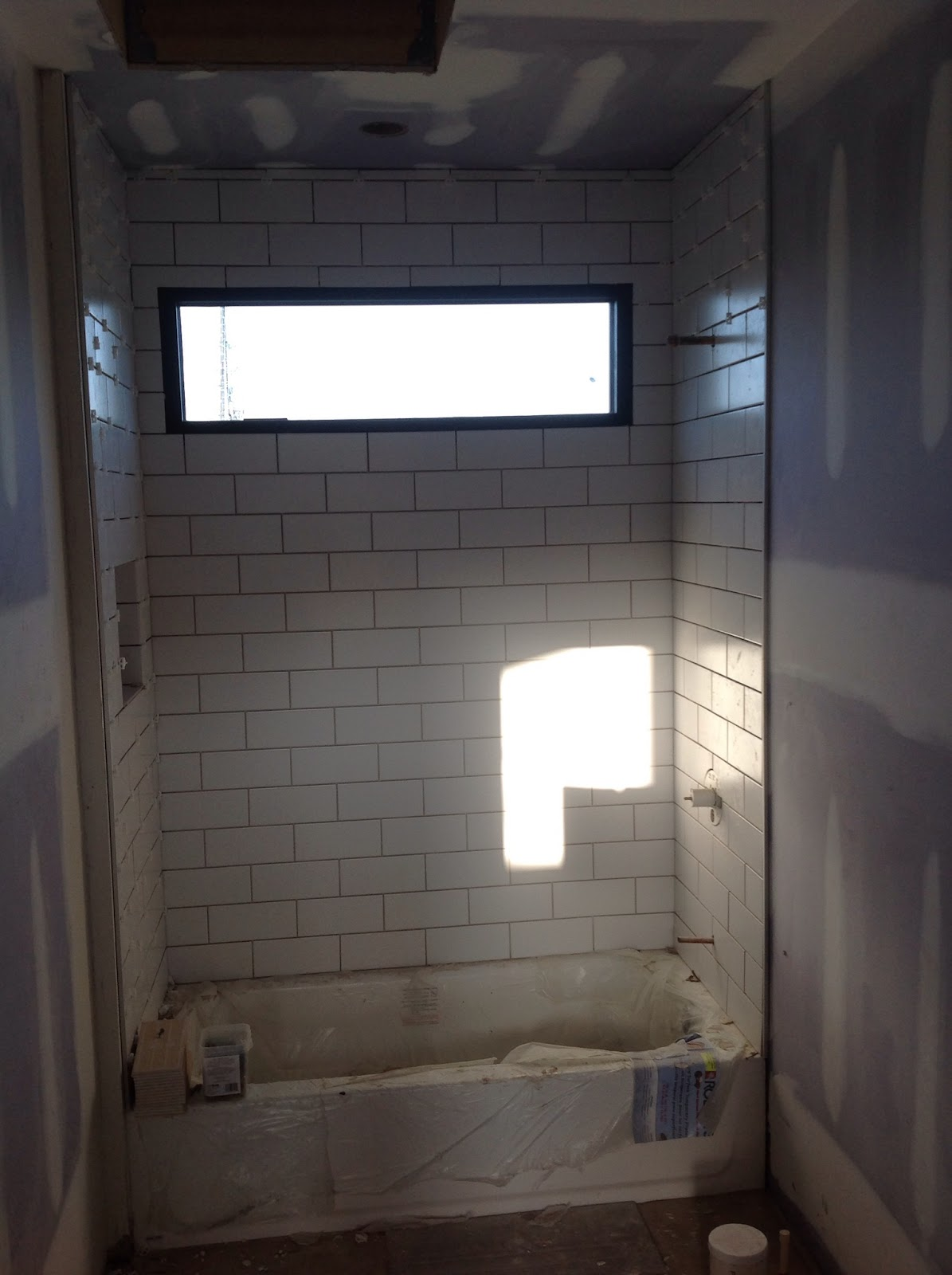 Barnetts build a house its in the details 3rd flr matte 4x10 subway tile dailygadgetfo Choice Image
