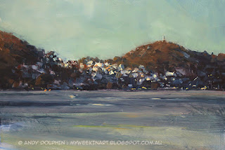 City of Albany fast plein air oil sketch by Andy Dophin
