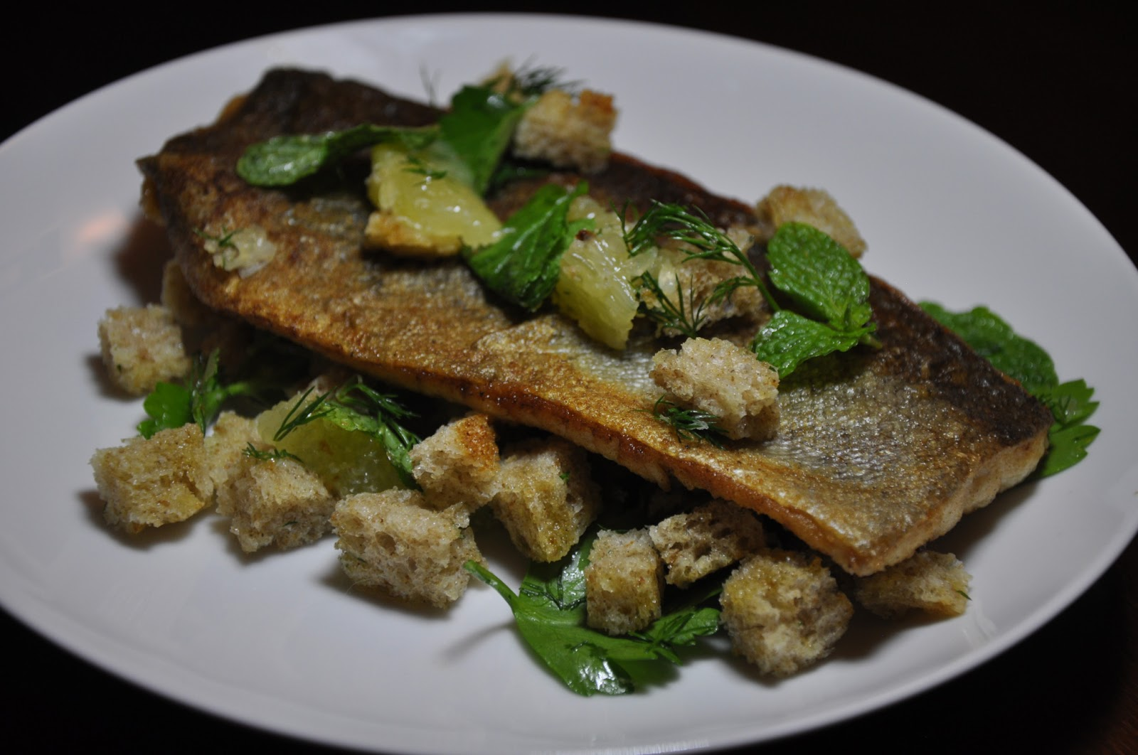 Slice of Rice: Pan-fried Trout with Lemon and Herb Stuffing