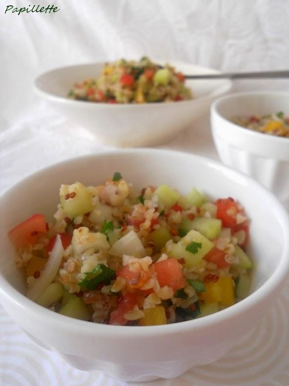 taboulé boulour quinoa