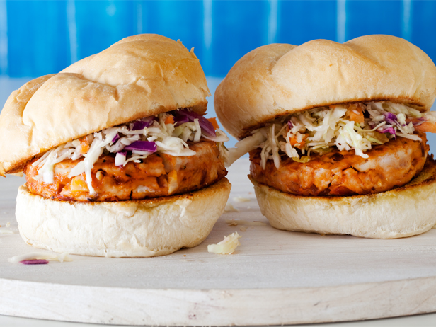 BBQ Chicken Burgers with Slaw Recipe
