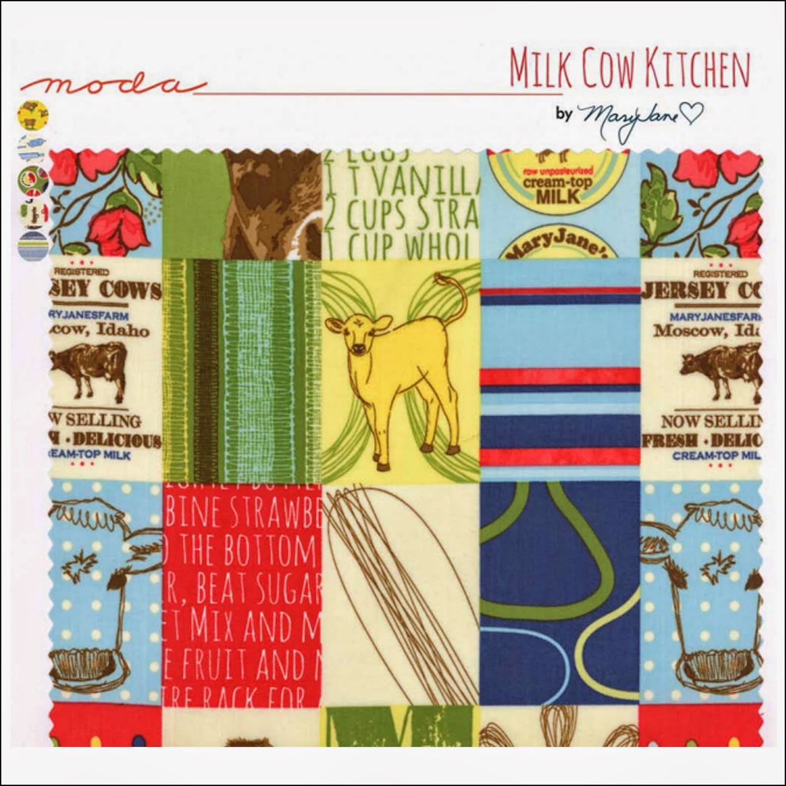 Moda MILK COW KITCHEN Quilt Fabric by Mary Jane Butters for Moda Fabrics