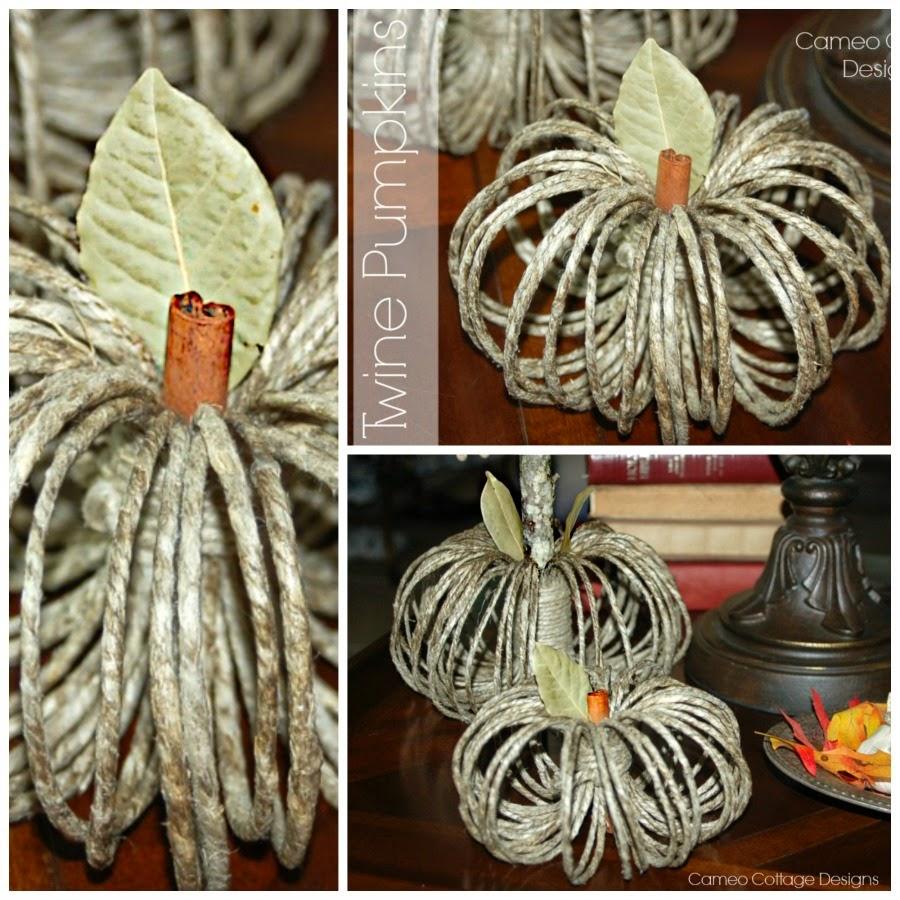 Twine Ring Pumpkins