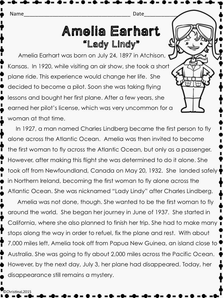 amelia earhart 9th grade essay Amelia earhart 9th grade essay (c) 2004 jim benjaminson: this first appeared in the turlock pioneer magazine in ca thursday, june 14, 1928 detroit, michigan motor.
