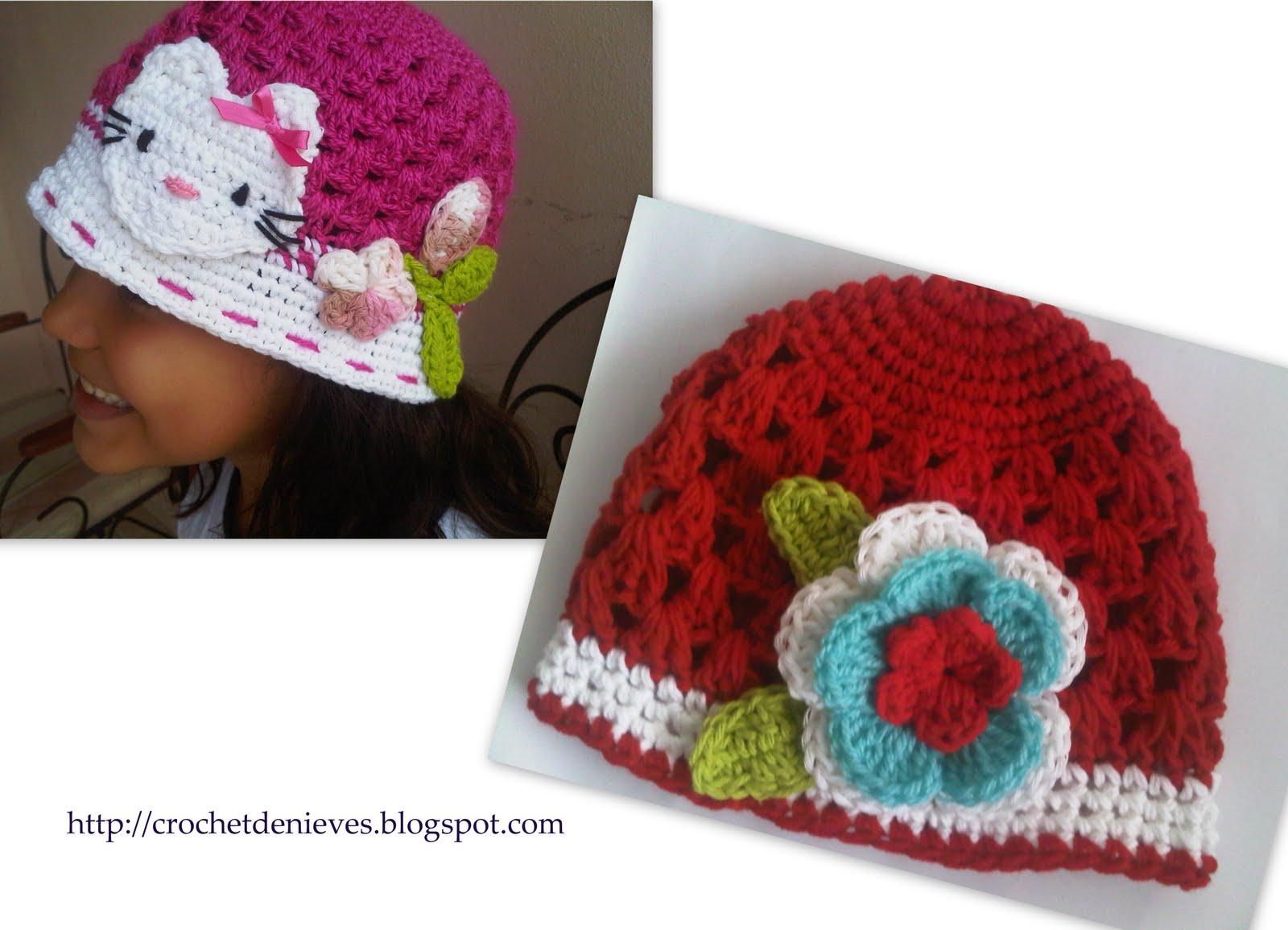 Crochet de Nieves: Gorros Tejidos para damas y niñas