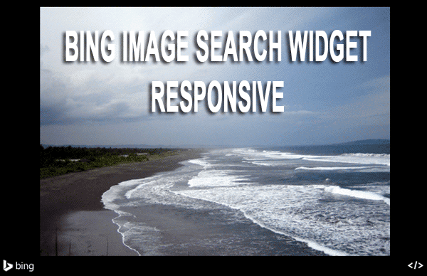 Membuat Bing's Image Search Result Widget Responsive