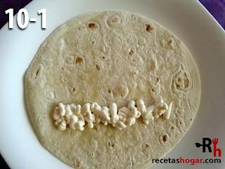 Fajitas de pollo desmechado con queso - paso-10-1