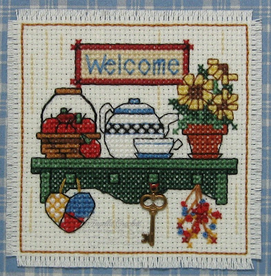"""Welcome"" Cross Stitch Frame by Angie Crockett"