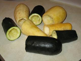Ma'ashi (Stuffed Vegetables) Hollowed%2BZucchini%2Band%2BSquash%2B%25282%2529