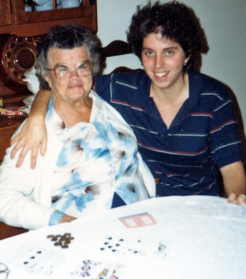 With my feisty grandmother, circa 1988