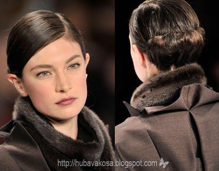 Стилна ежедневна прическа с прибрана коса
