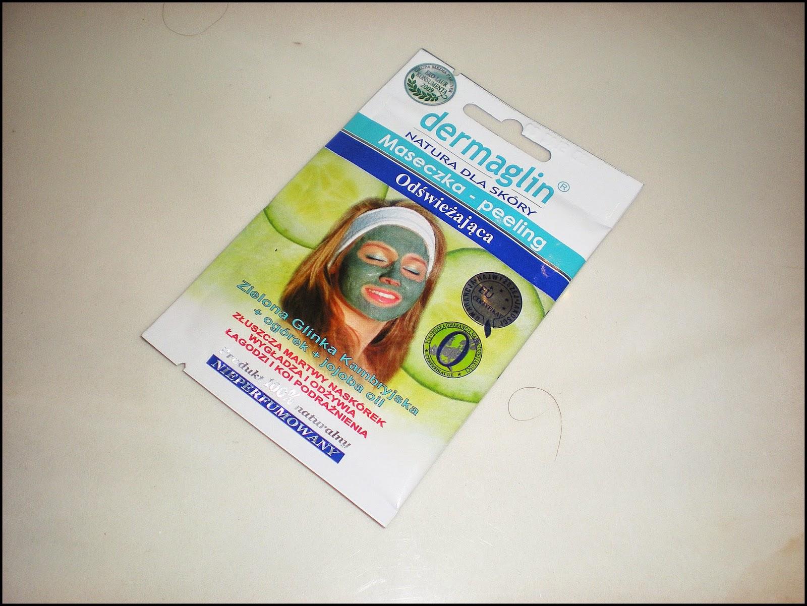DERMAGLIN: Maseczka - peeling, odświeżająca