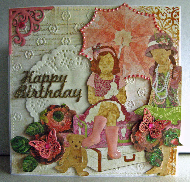 Imaginarium Designs: Birthday Cards And A Girly Layout
