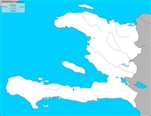 Mapa mudo, para pintar de Haití