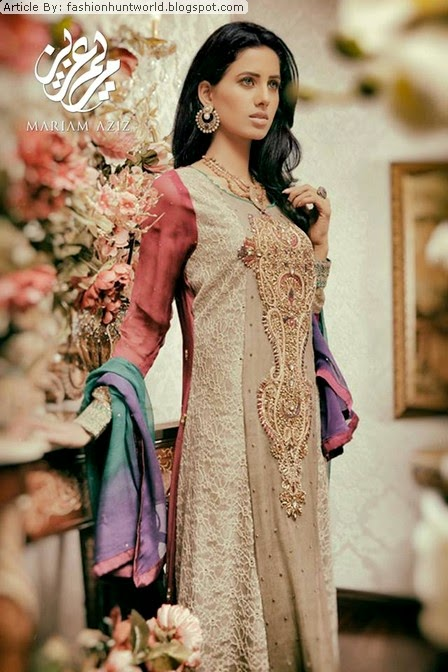 Mariam Aziz Semi Formal Winter Collection 2014 2015 Semi Formal