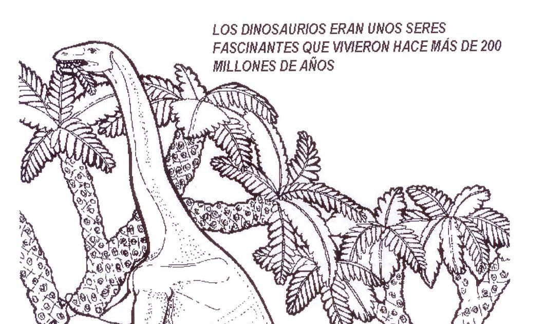 Dinosaurios para colorear Dinosaurios para pintar