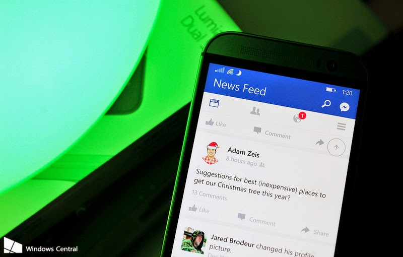 Facebook beta for Windows Phone