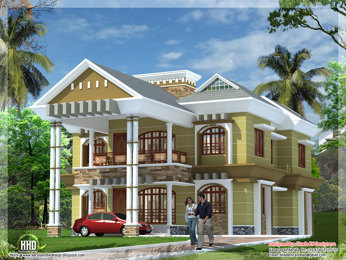 Modern luxury villa in kerala kerala home design and for Villas designs photos