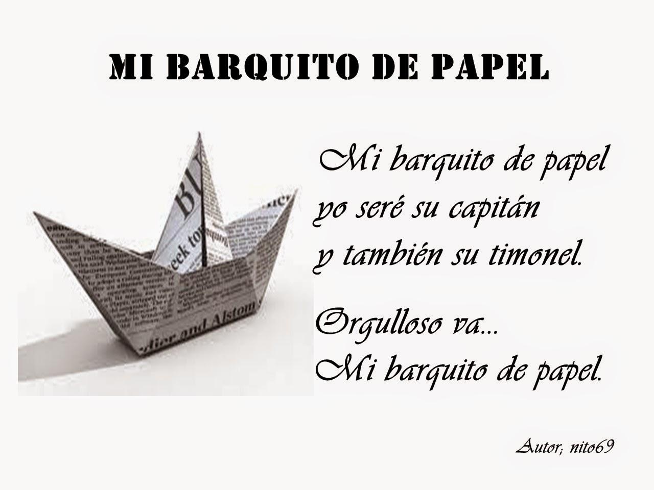 MI BARQUITO DE PAPEL .