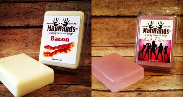 Man Hands Scented Soap
