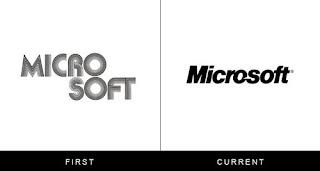 évolution du logo microsoft