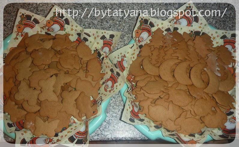 имбирное печенье, айсинг,