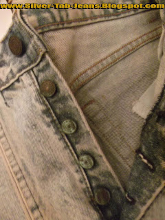Levis silver tab jeans stonewash buttons