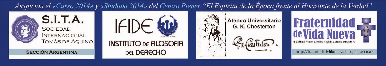 Auspician el Curso y Studium 2014 del Centro Pieper