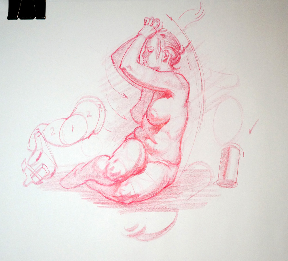 Kirk Shinmoto: Figure drawing demo (Video!)