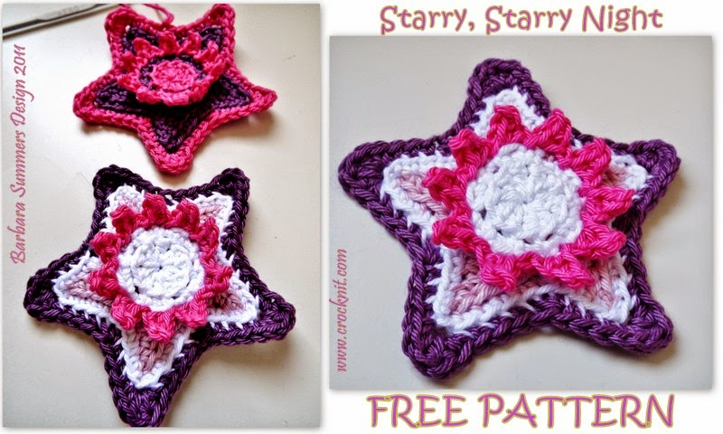 free crochet patterns, how to crochet, stars, starbursts, swirls, starshine, christmas decos,