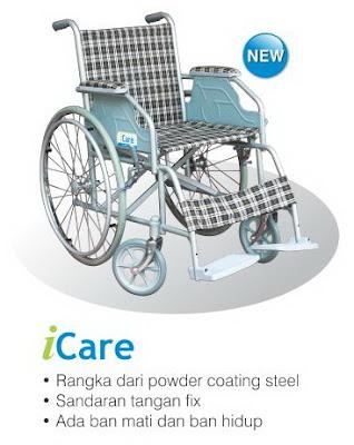 Spesifikasi harga kursi roda Icare merk Onemed