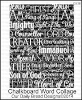 ODBD Chalkboard Word Collage Background
