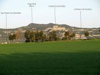 El Pla de la Garga i les muntanyes properes