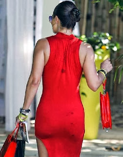 Jennifer Nicole Lee Long Red Dress Miami