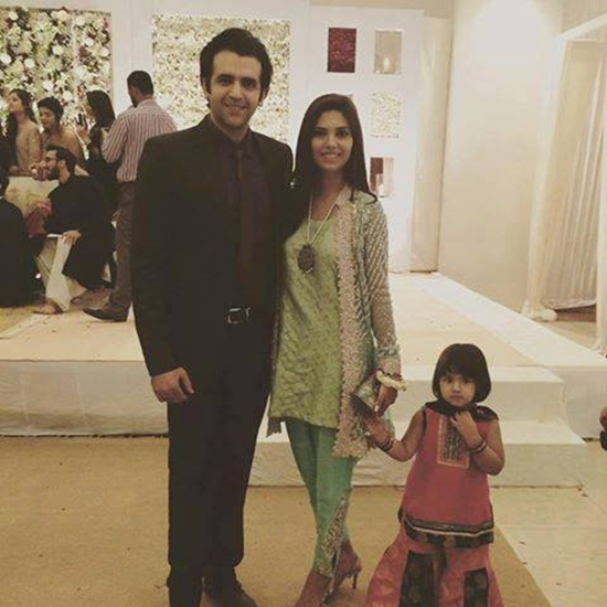 Sunita Marshal with Husband Hassan Ahmed and cute daughter