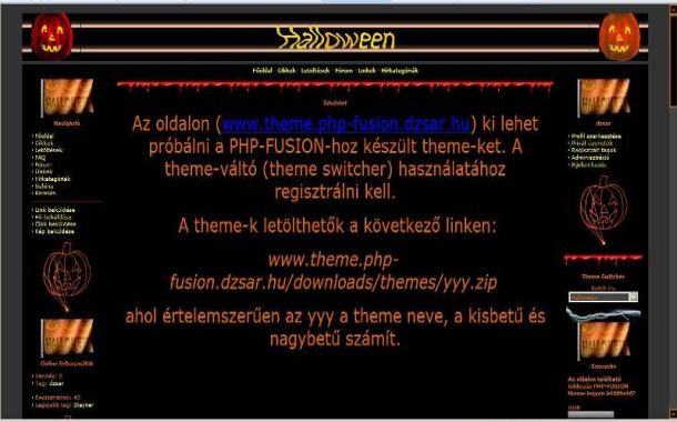 Free Abstract Black Orange Php-fusion Style Theme