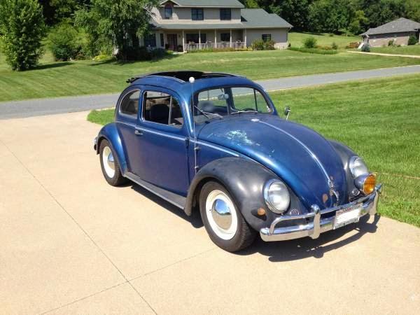 used 1955 volkswagen bug oval ragtop by owner. Black Bedroom Furniture Sets. Home Design Ideas