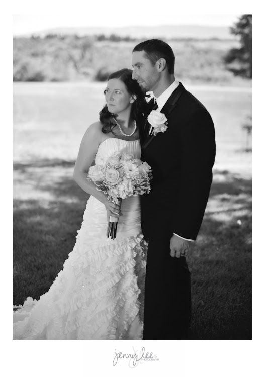 Iconic Black and White Bride and Groom Image