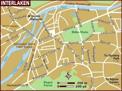 Interlaken Mappa della città
