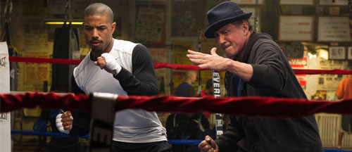 Trailer and pictures for Creed starring Michael B. Jordan and Sylvester Stallone