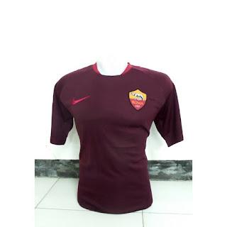 jual online dan gambar detail terbaru Jersey training As Roma warna merah maroon terbaru musim 2015/2016