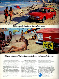 propaganda Variant - 1973, brazilian advertising cars in the 70s; os anos 70; história da década de 70; Brazil in the 70s; propaganda carros anos 70; Oswaldo Hernandez;