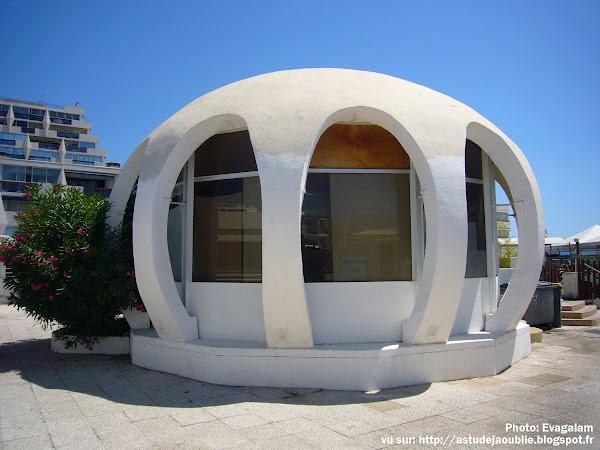 architecture - La Grande Motte - Bar de la Piscine Neptune  Architecte: Jean Balladur  Début du projet: 1972
