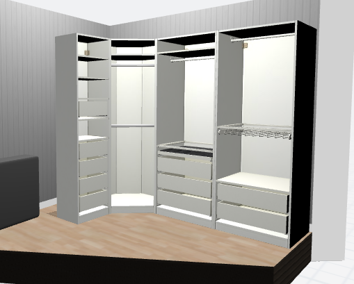 wohnen begehbarer kleiderschrank fashiontwist. Black Bedroom Furniture Sets. Home Design Ideas