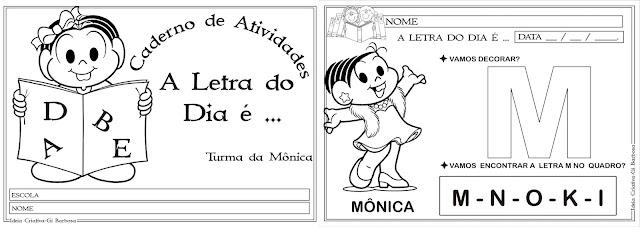 Caderno de Atividades Letra do Dia com a Turma da Mônica