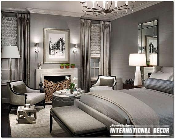 American interior design, American style,American houses, American bedroom grey
